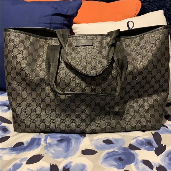 4b972beb7caf Gucci Bags | Authentic Jacquard Extra Large Tote | Poshmark